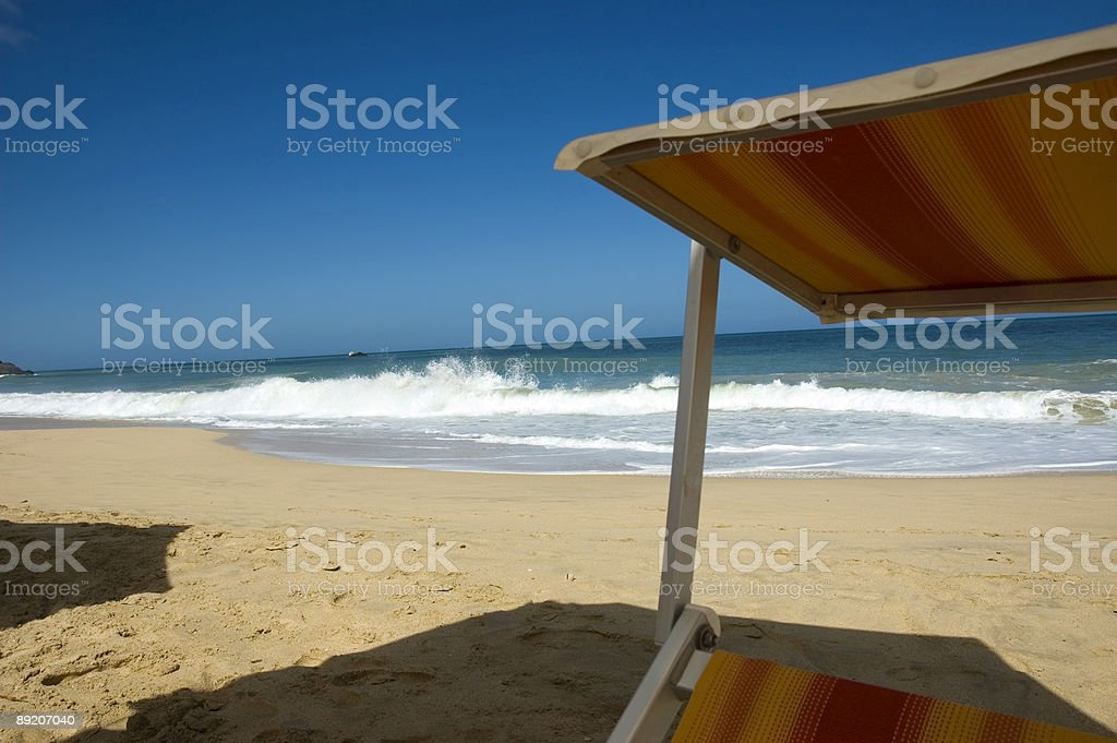sun chair view royalty-free stock photo