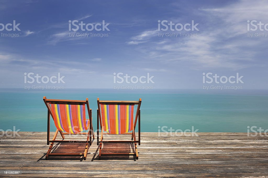 Sun Chairs, Time to Relax royalty-free stock photo