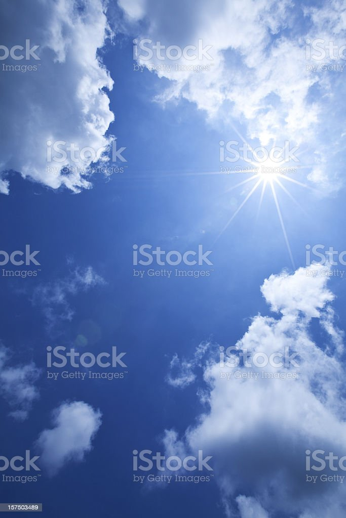 Sun & Clouds royalty-free stock photo