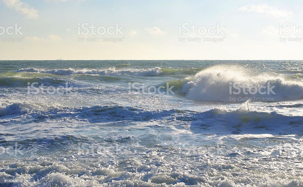 Sun Coloring Wave in Beautiful Colors stock photo