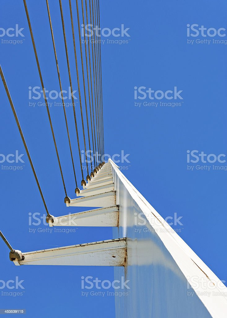 Sun Dial Bridge Cables royalty-free stock photo
