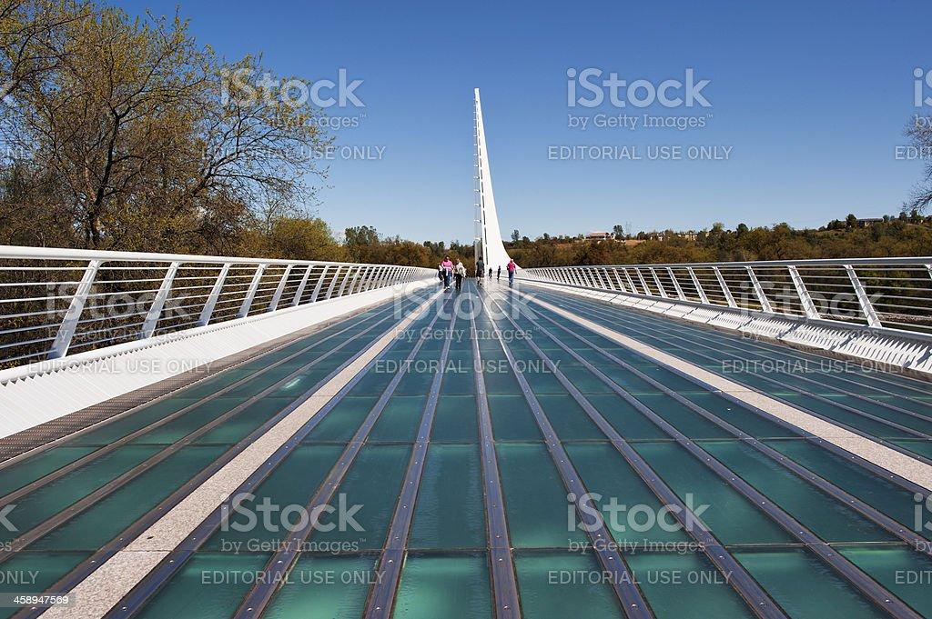 Sun Dial Bridge Visitors stock photo