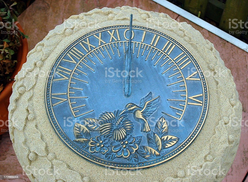 Sun dial royalty-free stock photo