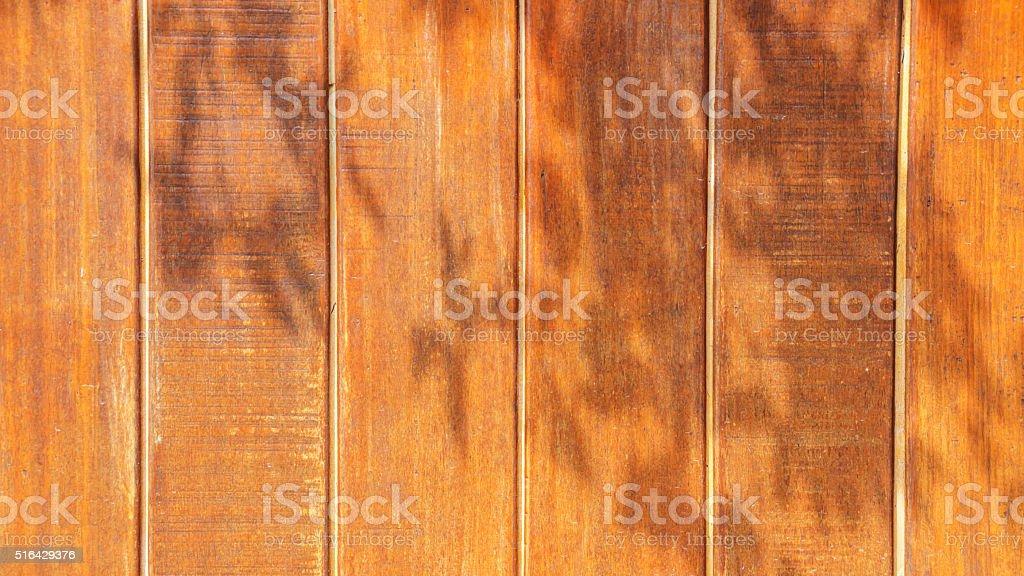 Sun dimly light on wood for background. stock photo