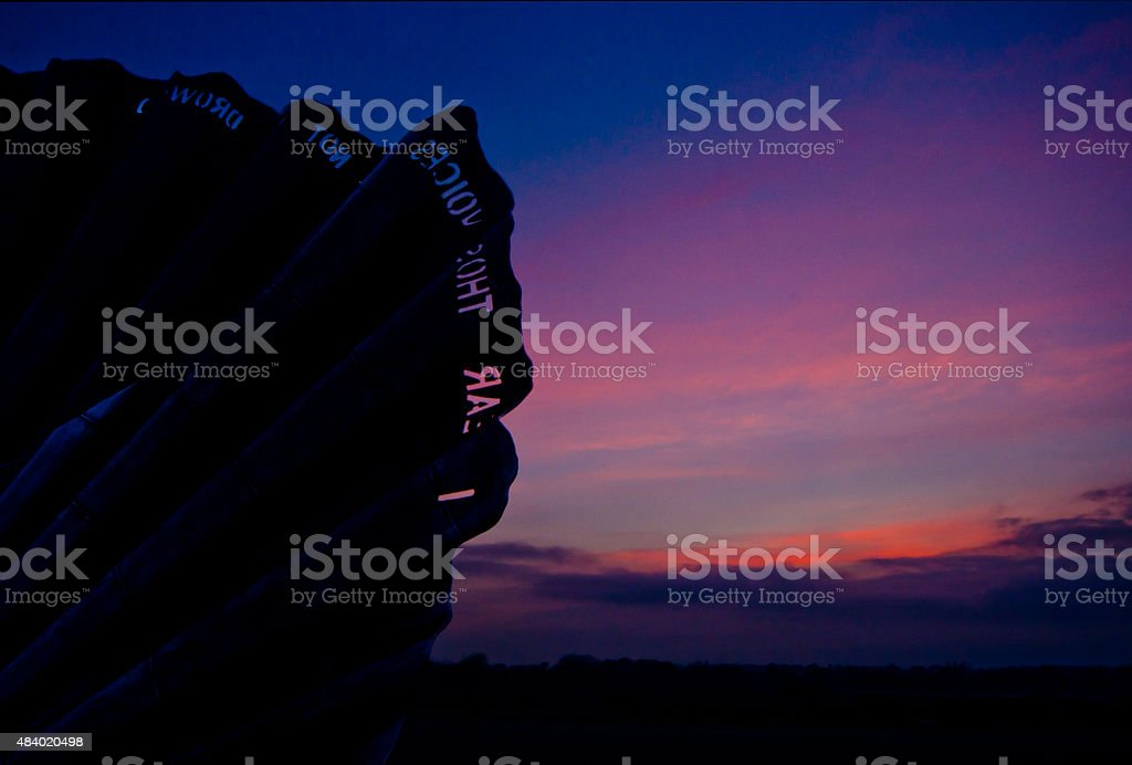 Sun down in Aldeburgh stock photo