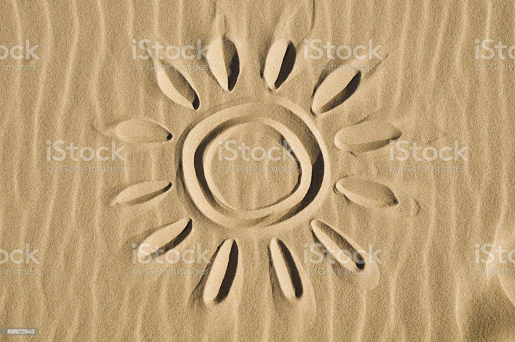 Солнце обращено в песок Стоковые фото Стоковая фотография