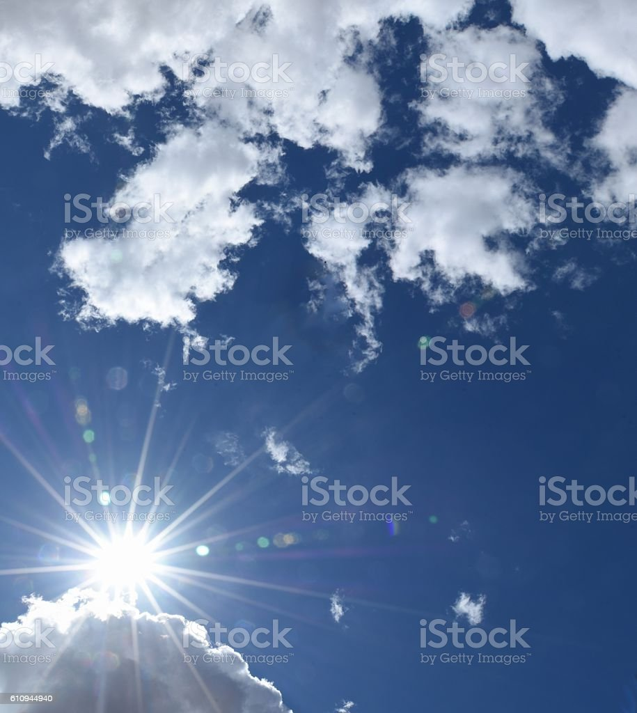 Sun Flair stock photo