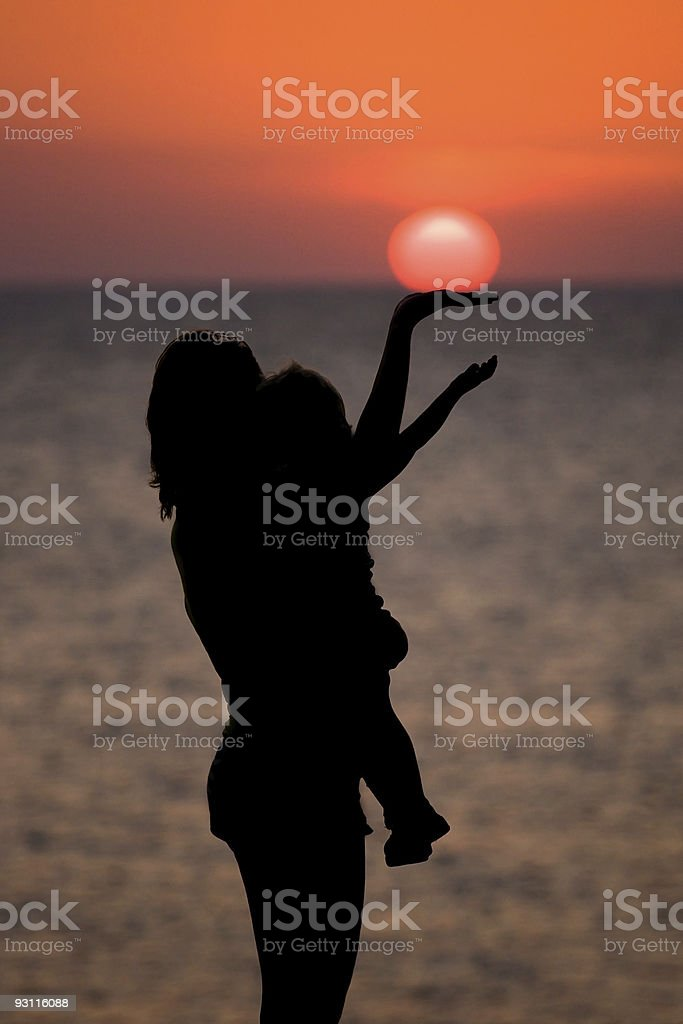 sun for daughter stock photo