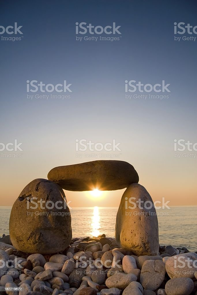 Sun gate. Daybreak royalty-free stock photo