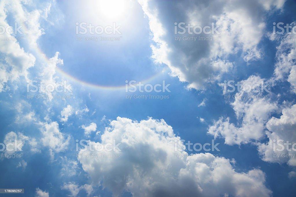Sun Halo stock photo
