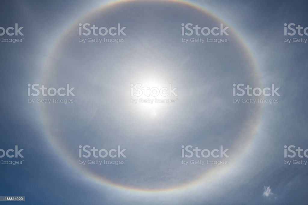 Sun halo stock photo