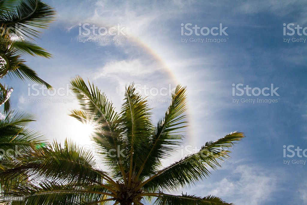 Sun Halo Ring stock photo