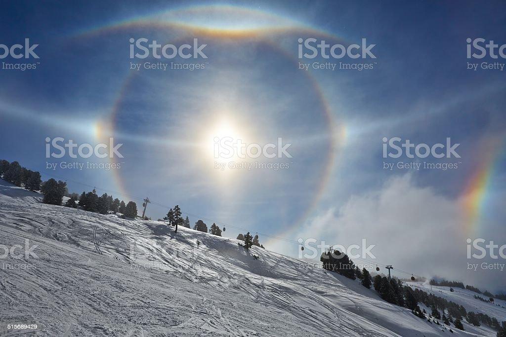 Sun Halos stock photo