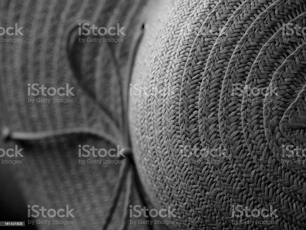 Sun Hat in Early Morning stock photo