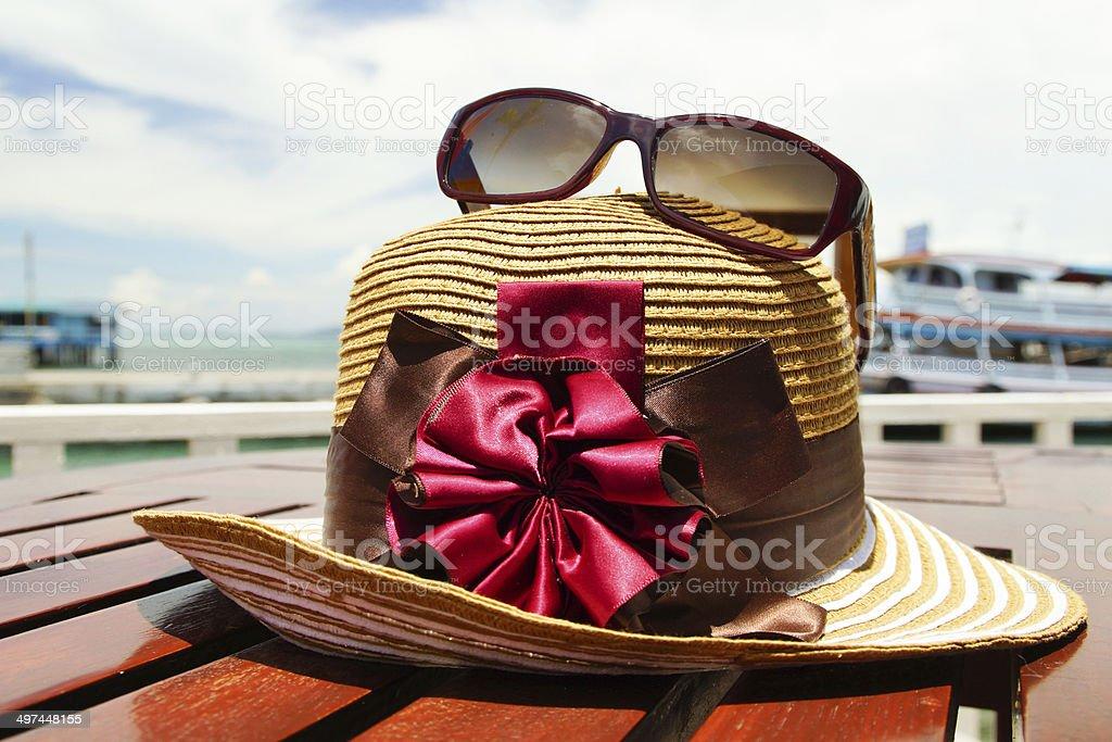 Sun Hat & Sunglasses stock photo