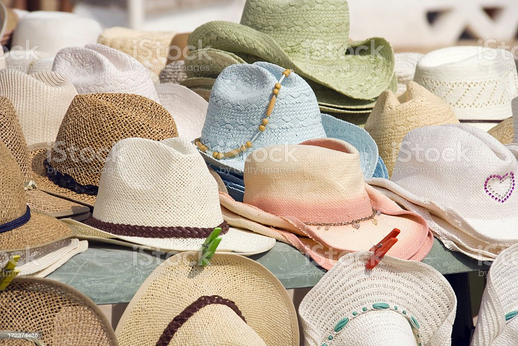 Sun Hats royalty-free stock photo