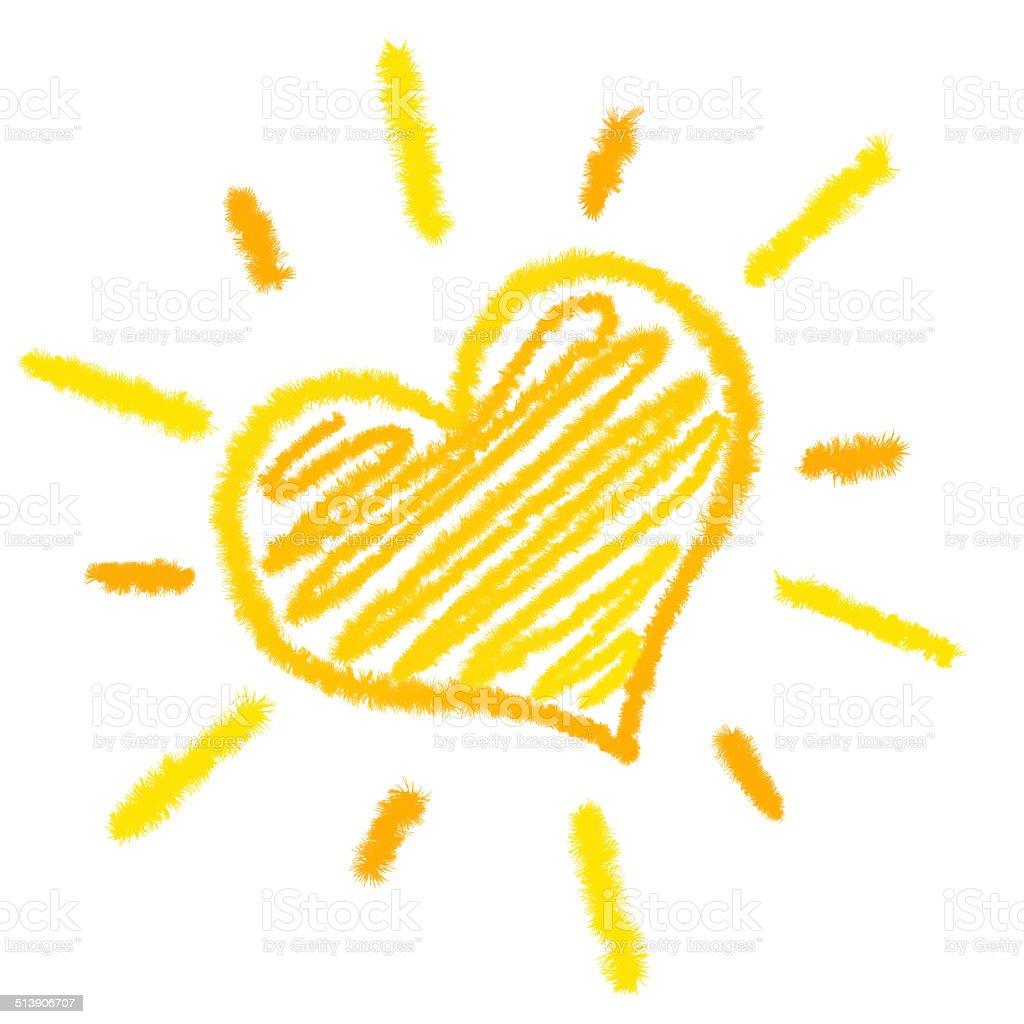 Sun Heart stock photo