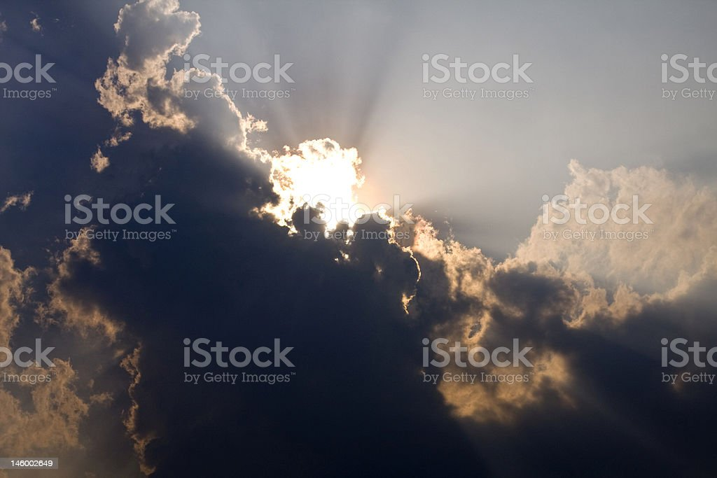 Sun Hidden Behind Cloud royalty-free stock photo