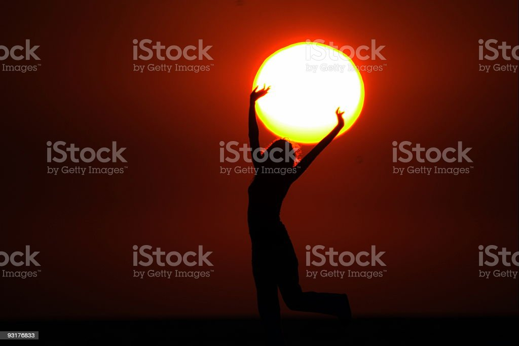Sun in the hands royalty-free stock photo