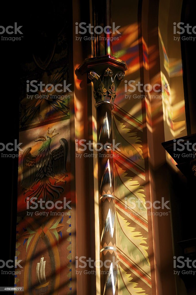 Sun in the polychrome stock photo