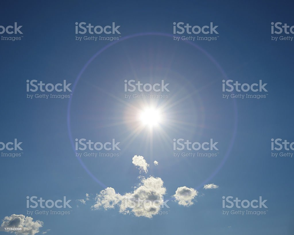 Sun in the sky stock photo