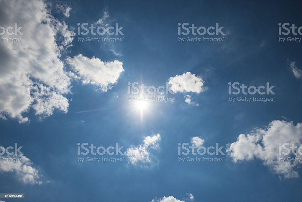 Sun in the sky royalty-free stock photo