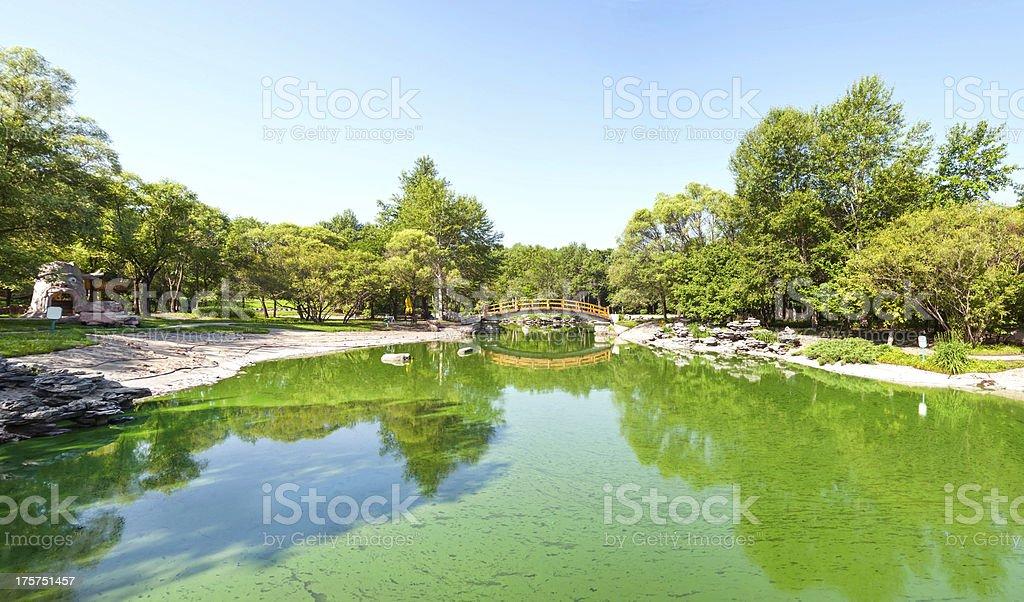Sun Island Park stock photo