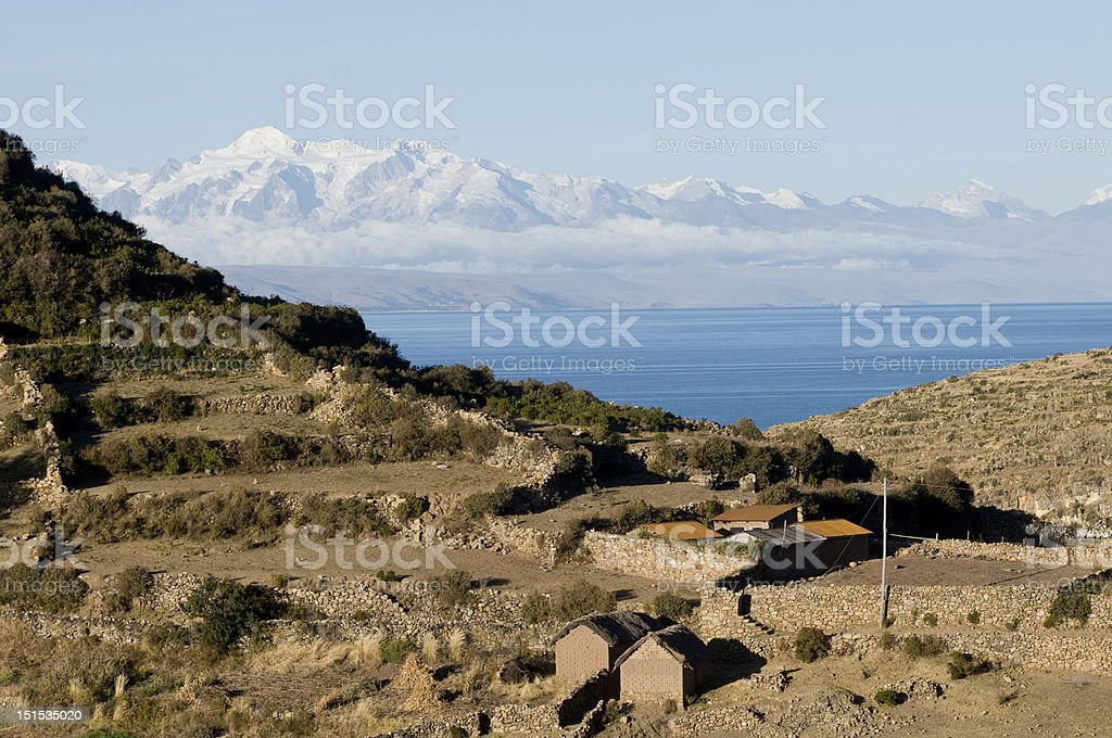 sun Island, Lac titicaca photo libre de droits
