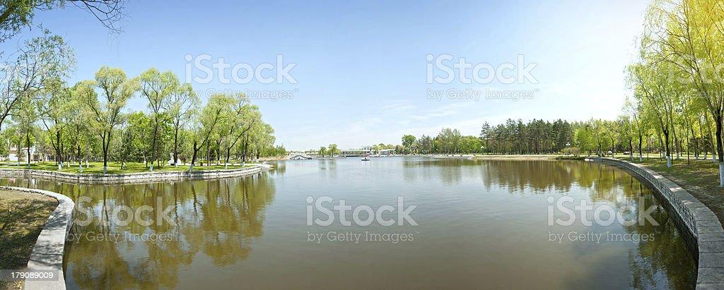 Sun Lake in early spring stock photo