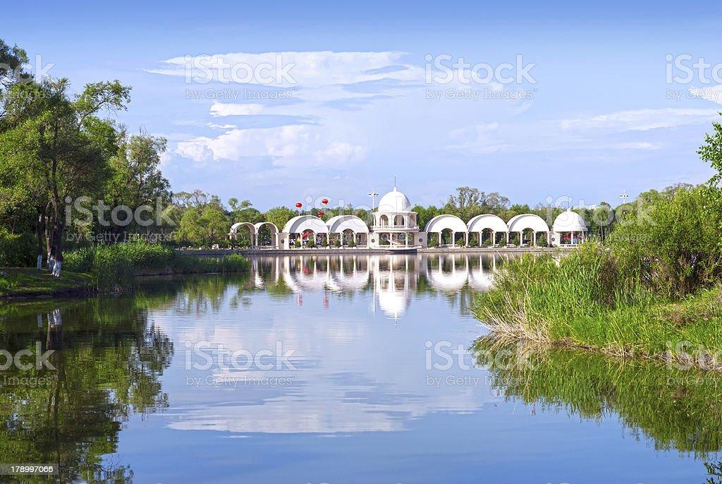 Sun Lake stock photo
