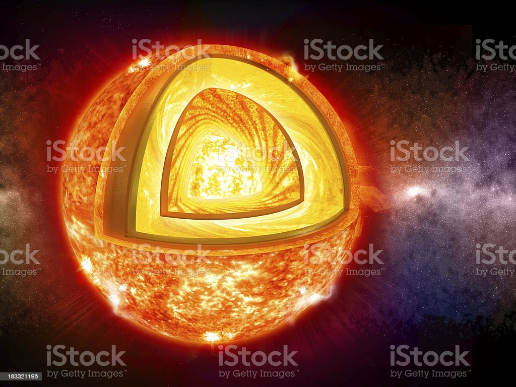 Sun - layers stock photo