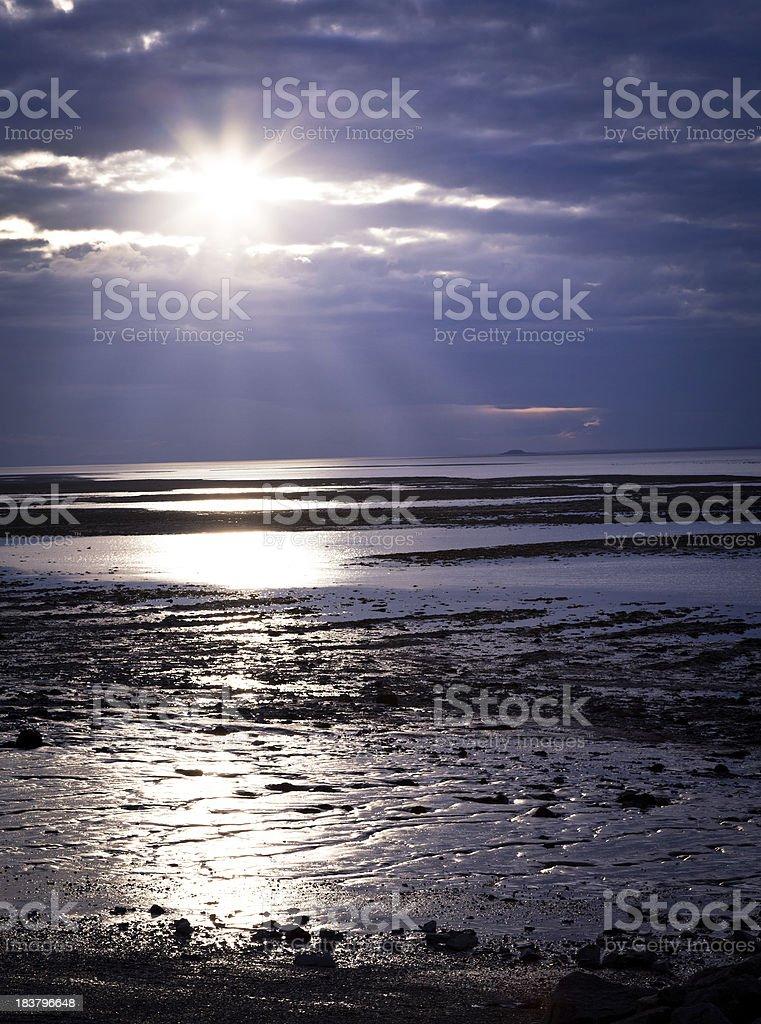 Sun lighting the scene royalty-free stock photo
