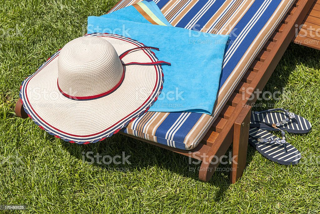 Sun Lounger royalty-free stock photo