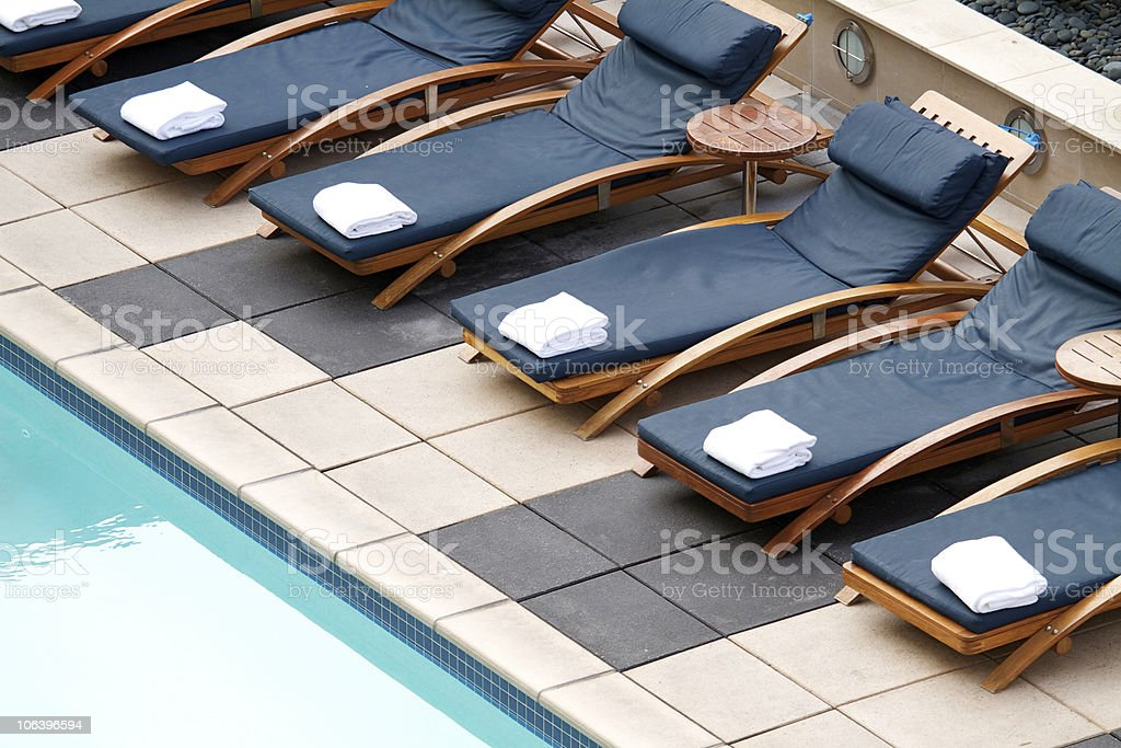 Chaise Longues royalty-free stock photo