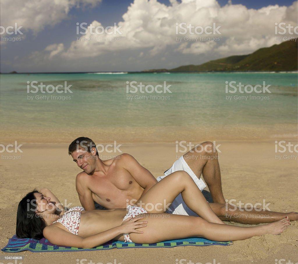 Sun Lovers royalty-free stock photo