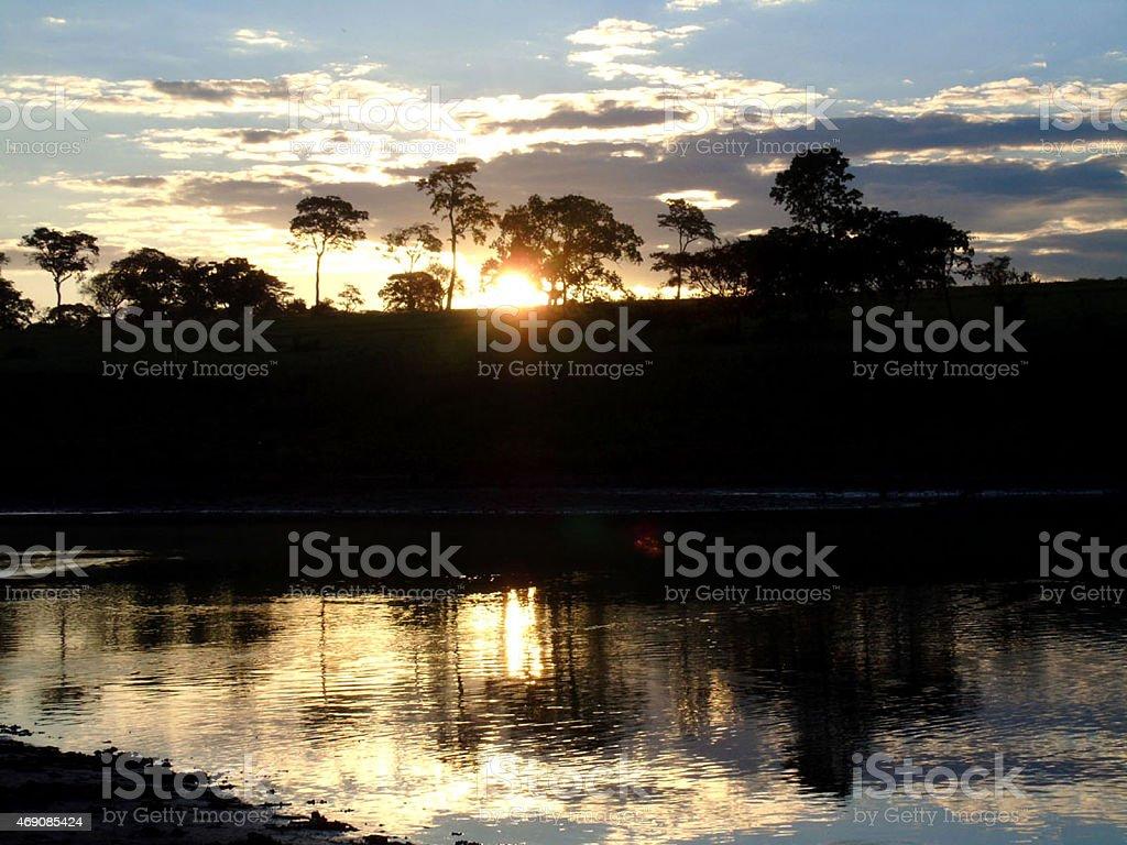 Sun Mirror stock photo