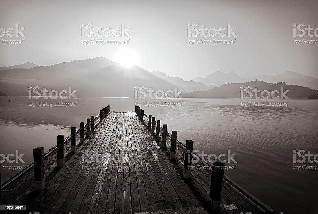 Sun Moon Lake in Taiwan stock photo
