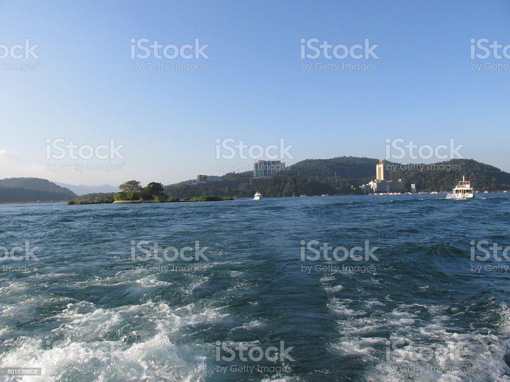 Sun Moon Lake stock photo