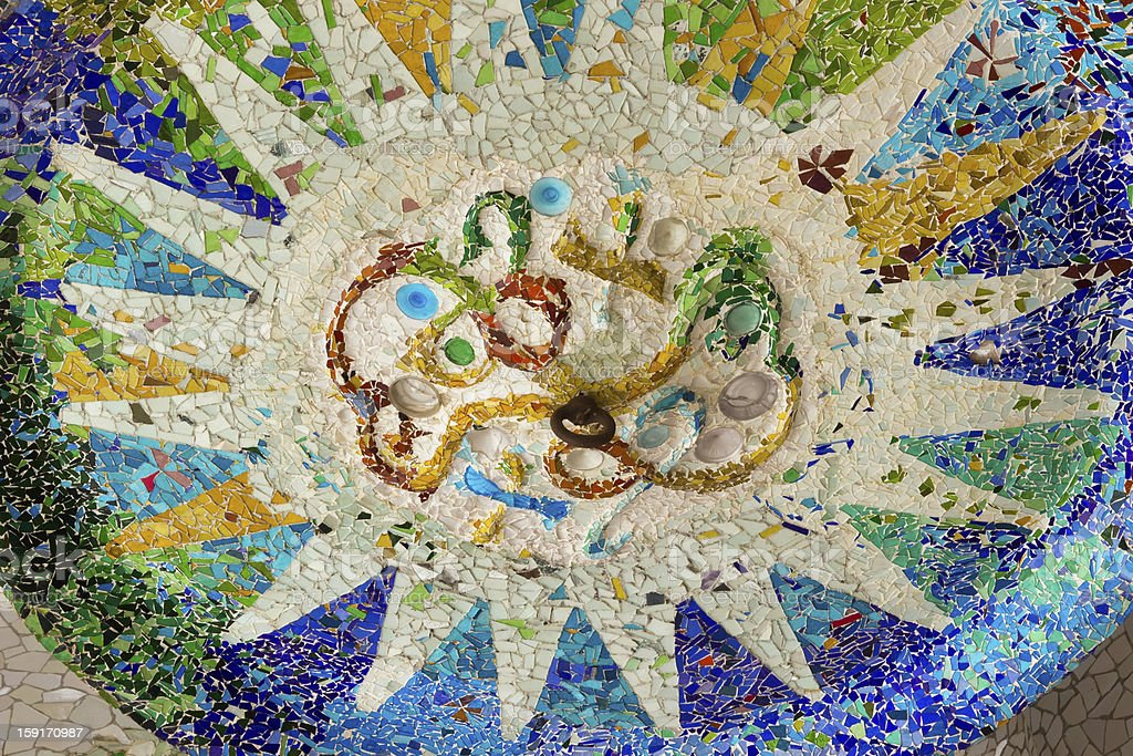 sun of mosaic royalty-free stock photo