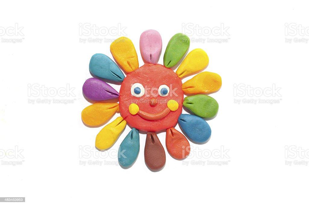 sun of plasticine stock photo