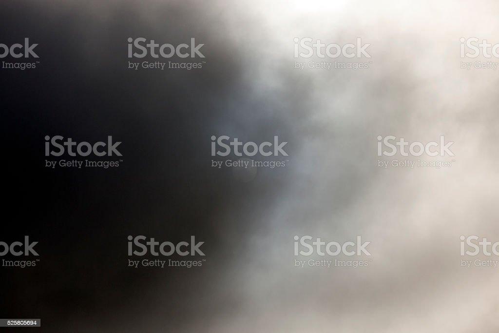 sun on a gray sky stock photo
