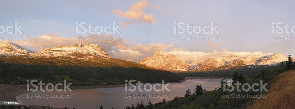 Sun on mountains royalty-free stock photo