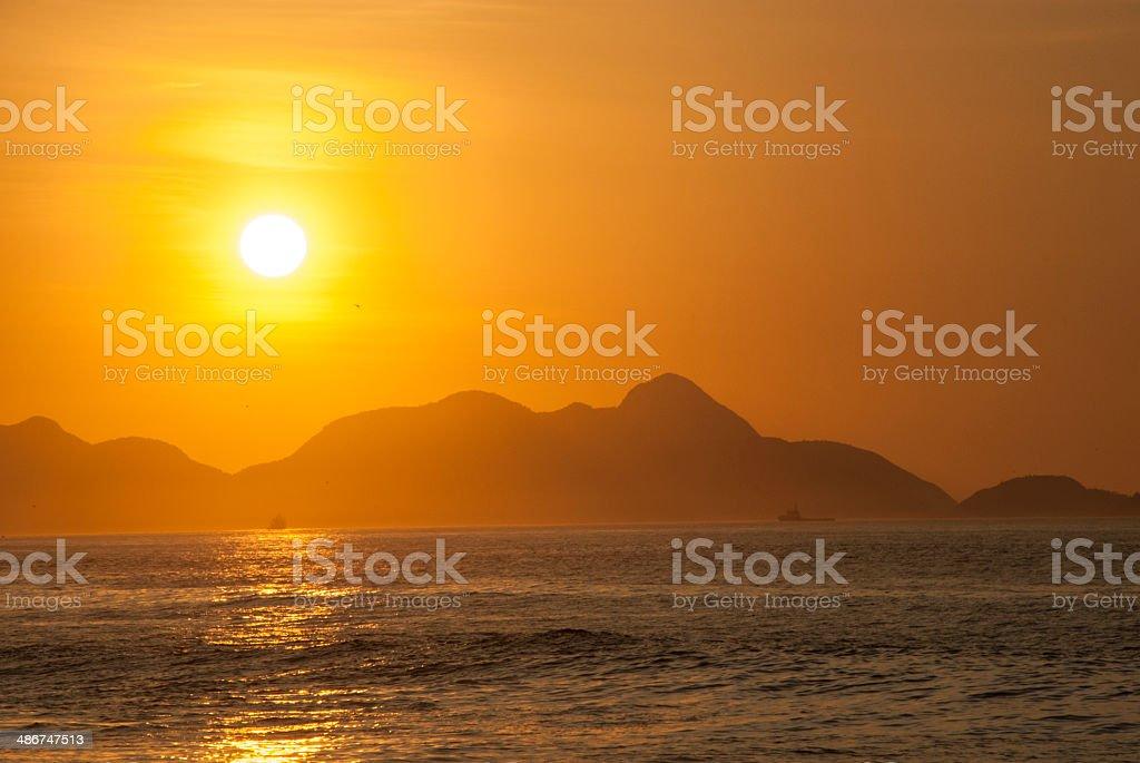 Sun on the Sea royalty-free stock photo