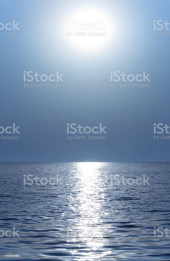 Sun or moon royalty-free stock photo