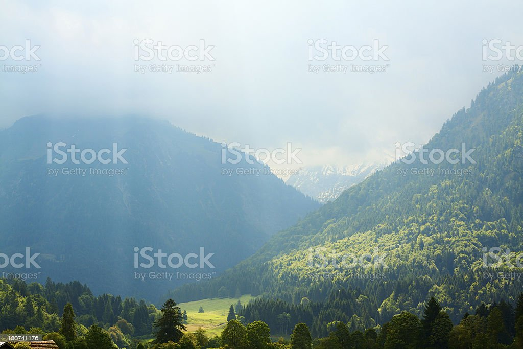 Sun or thunder stock photo