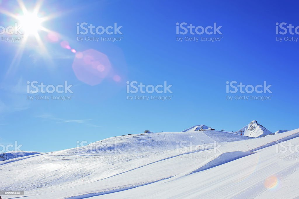Sun over Italian Alps royalty-free stock photo