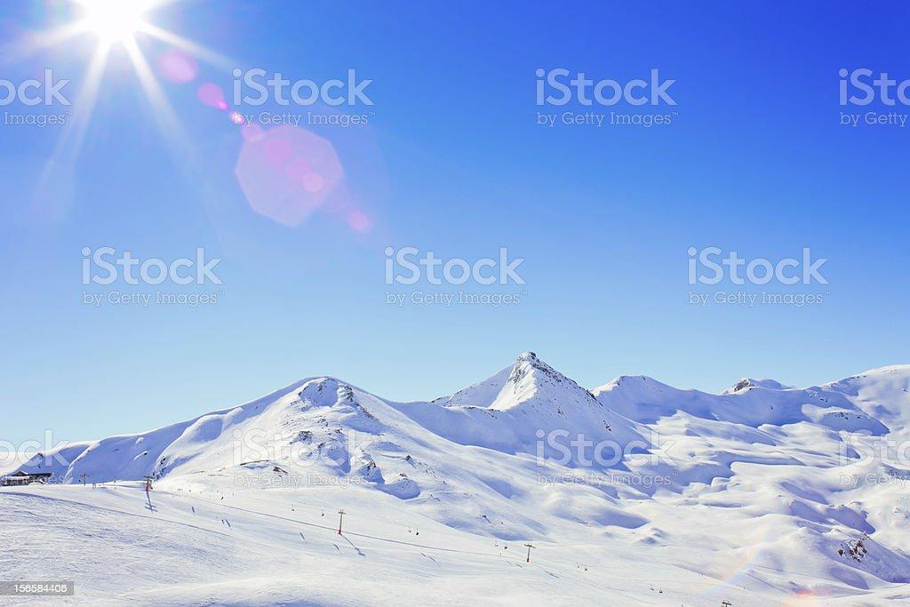 Sun over Italian Alps royalty-free stock photo