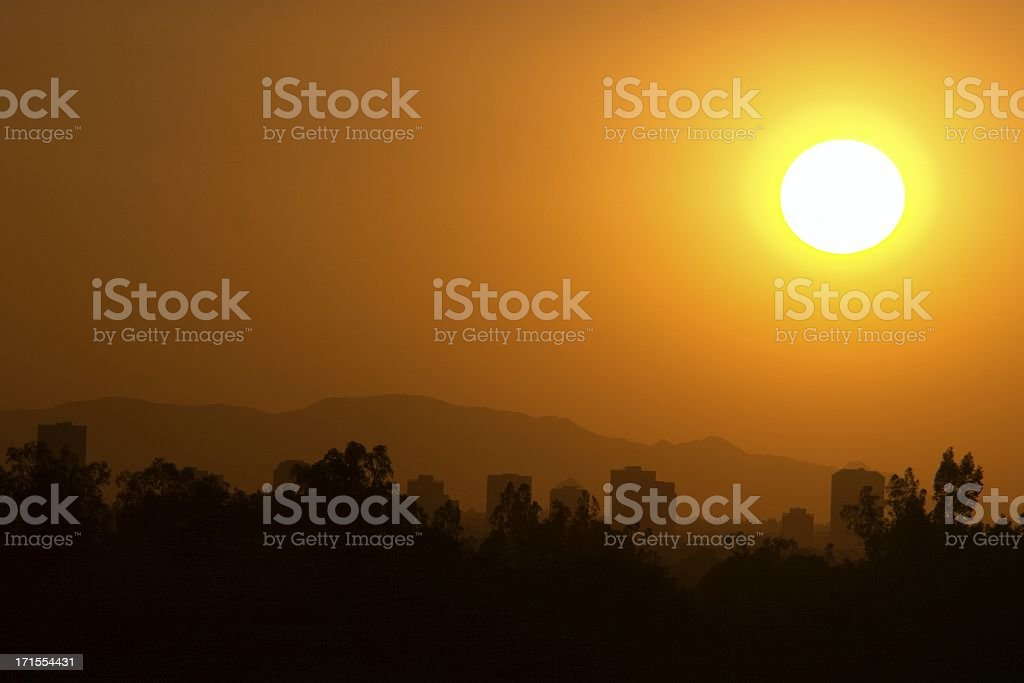 Sun Over Phoenix stock photo