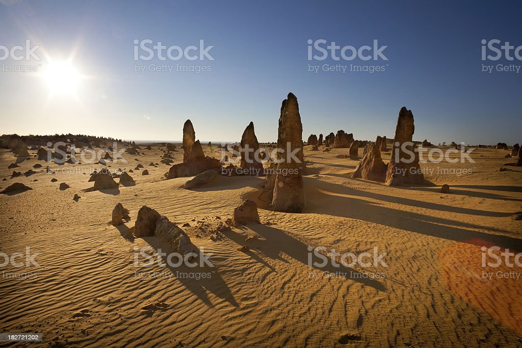 Sun Over The Pinnacles stock photo