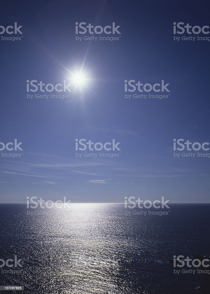 Sun over the Sea (image size XXL) royalty-free stock photo